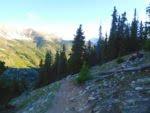 Huron Peak trail at sunrise
