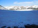 An exhausting trek across the soft snow