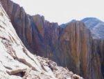 A climber on the Pallisades