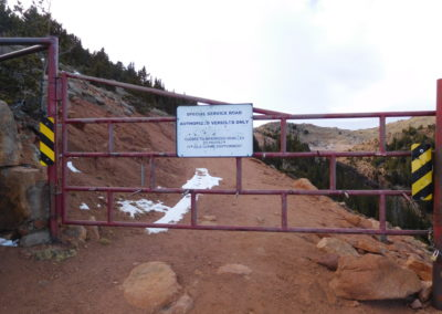 The gate marks the beginning of the hike