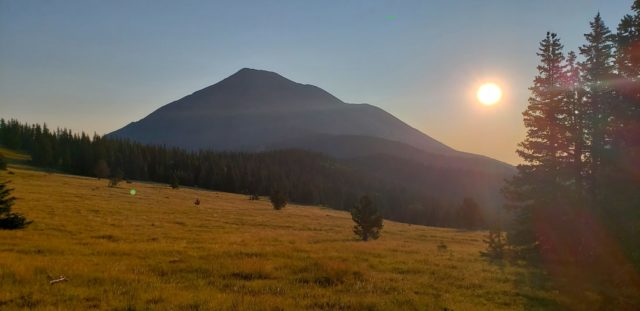 Smoke from wildfires creates an eerie sunrise