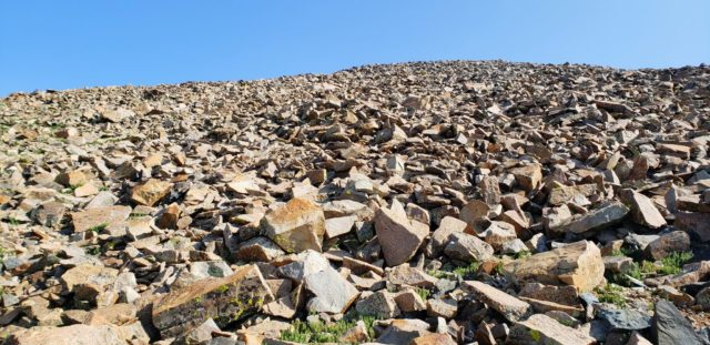 The route to the summit