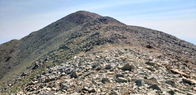 West Spanish Peak summit in the distance
