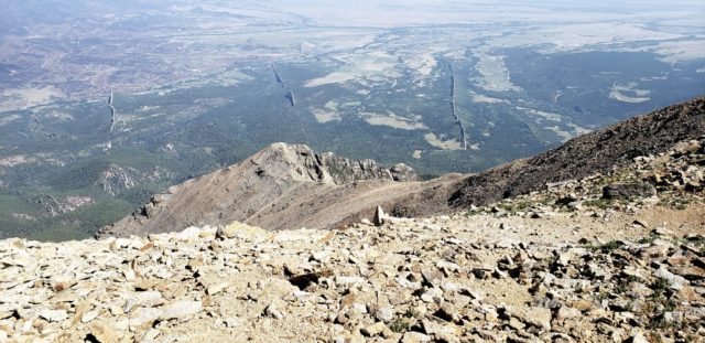 Summit view - best example of geological dikes in the world