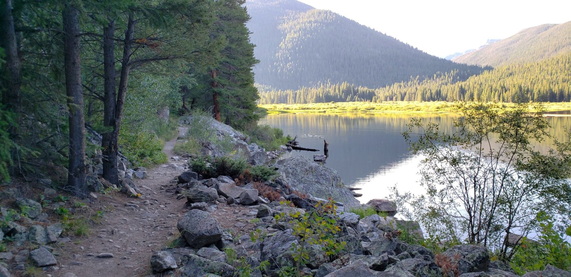 Trail along Monarch Lake