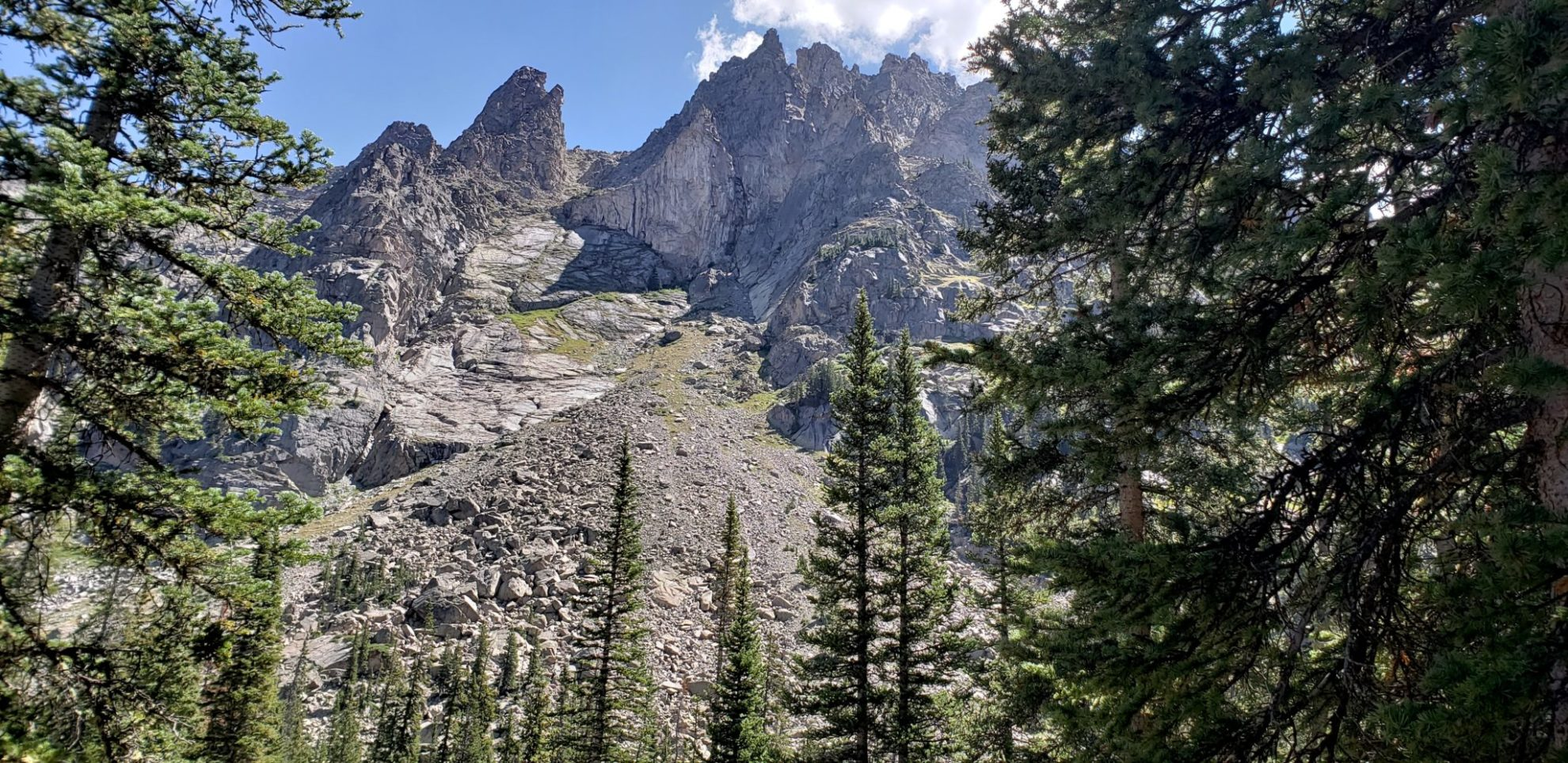 Jagged peaks in the Indian Peaks Wilderness
