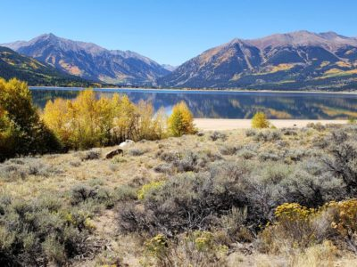 Twin Lakes with Mt Elbert on the far right