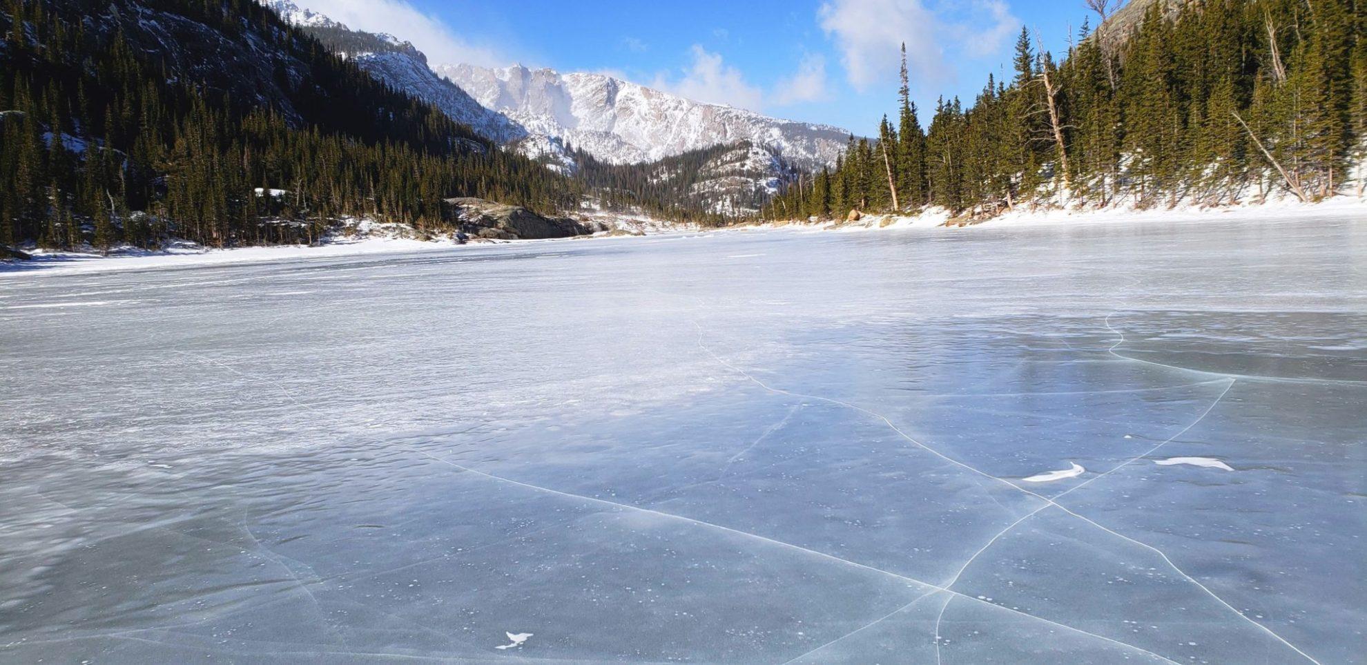 Mills Lake frozen solid