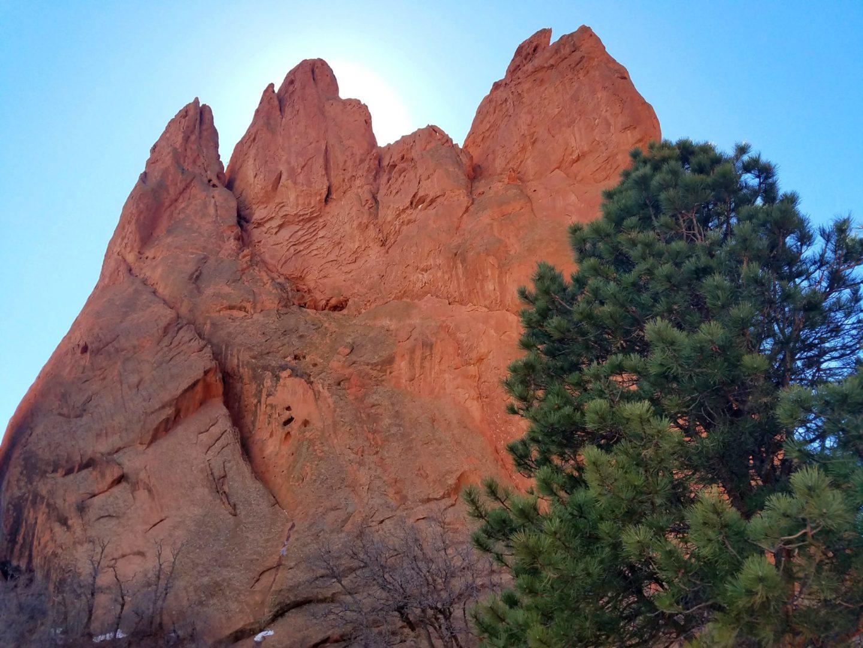 380' high sandstone formation