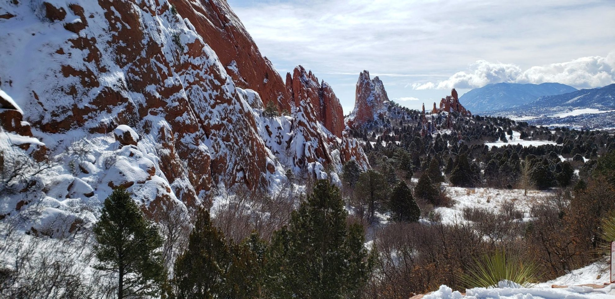 Fresh snow in Cathedral Valley