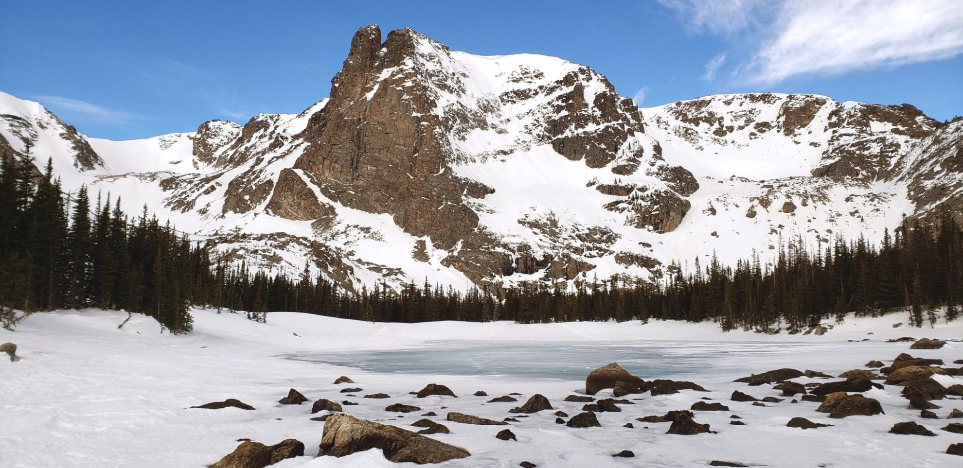 Two Rivers Lake and Notchtop Mountain (12,129')
