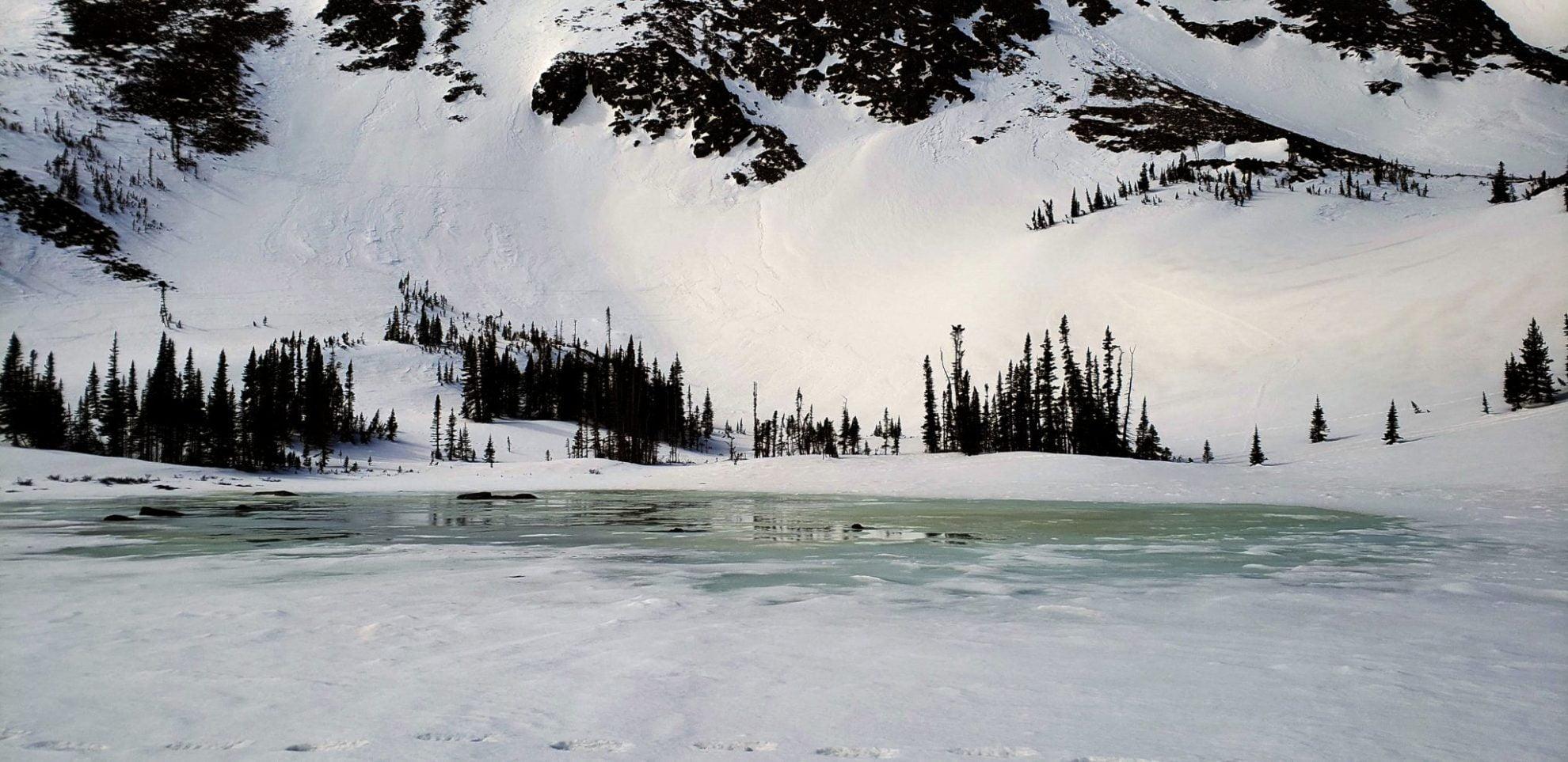 Lake Helene beginning to thaw