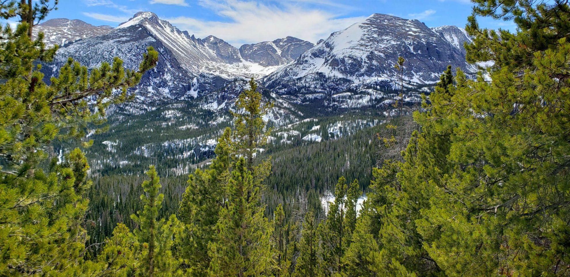 Incredible views of the Longs Peak area of the park