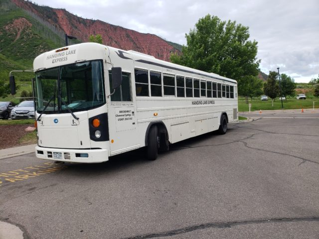 A 20 minute shuttle ride to Hanging Lake from the Rec. Center