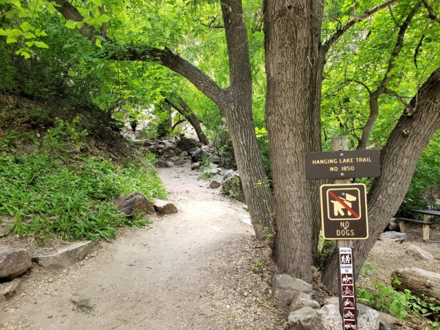 Hanging Lake trailhead
