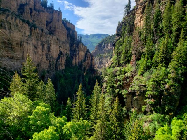 View of Glenwood Canyon