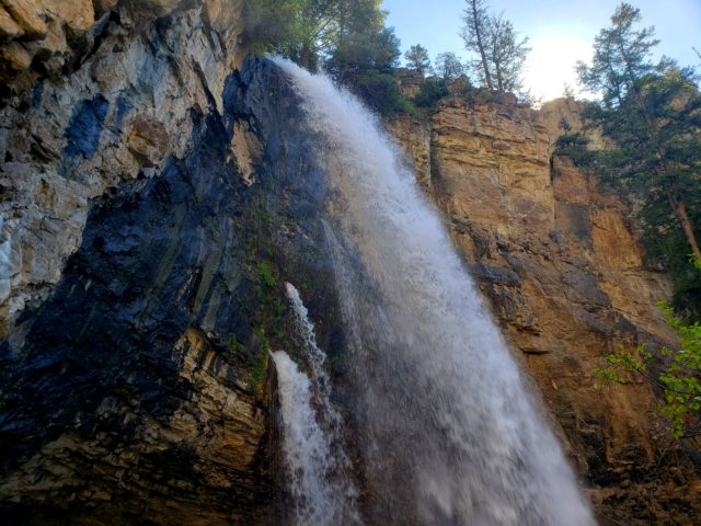 Spouting Rock, the source of the water in Hanging Lake