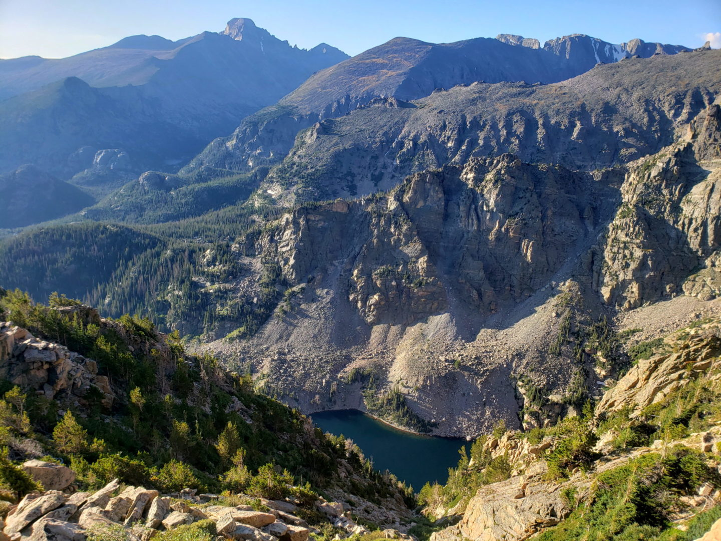 Emerald Lake from the Flattop Mountain trail