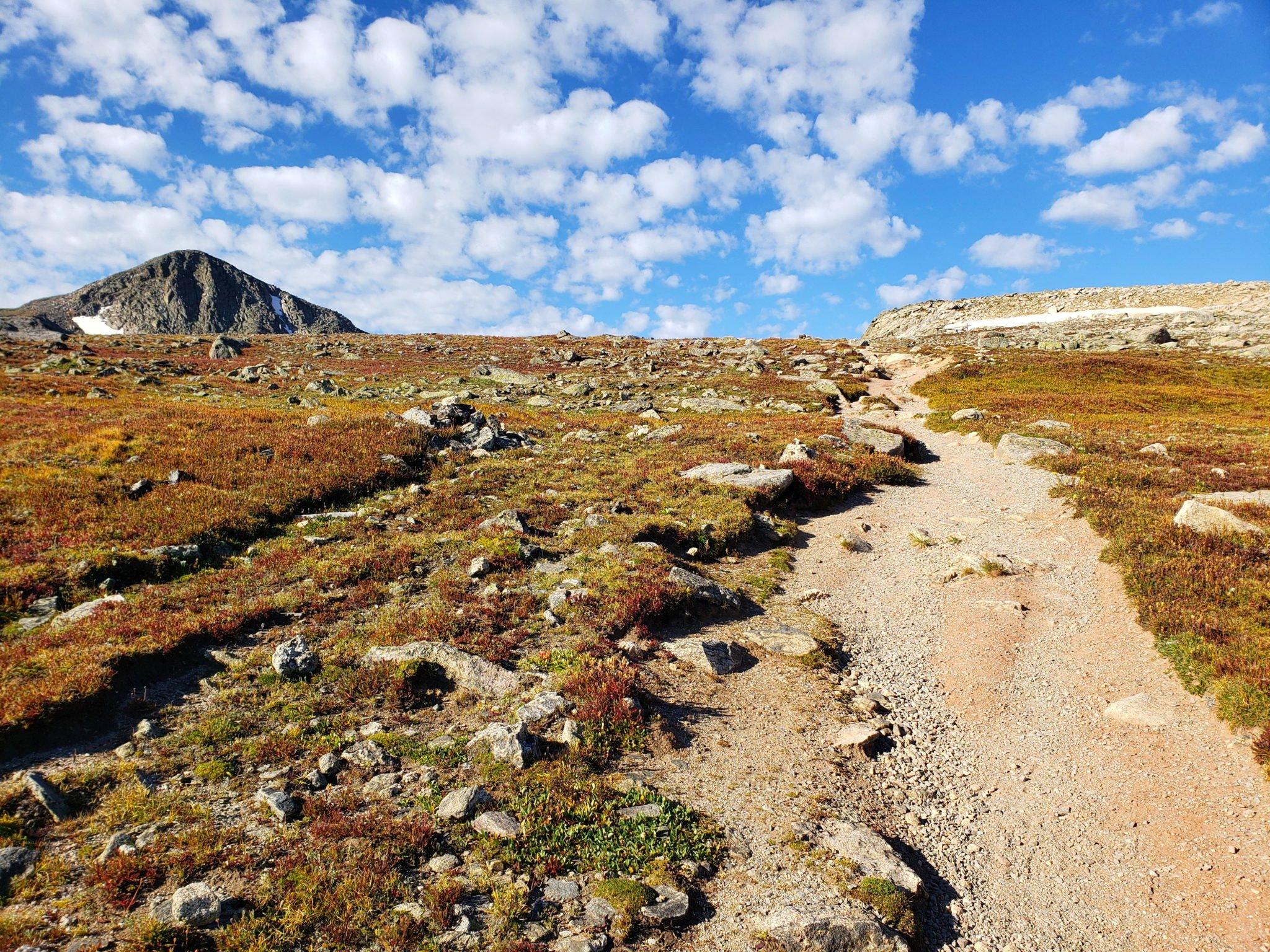 Hallett Peak on the left and Flattop Mountain on the right