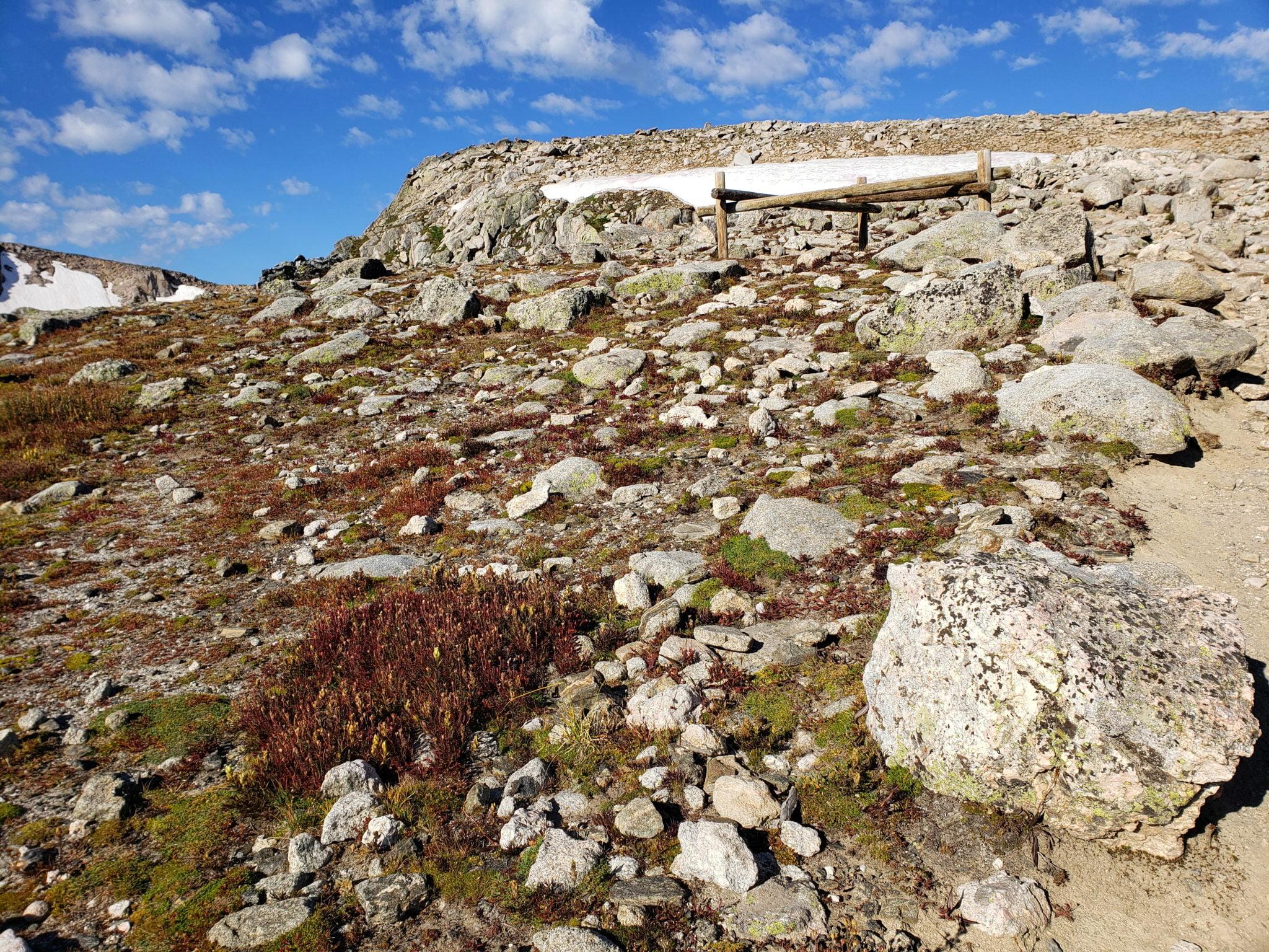 Nearing the summit of Flattop Mountain