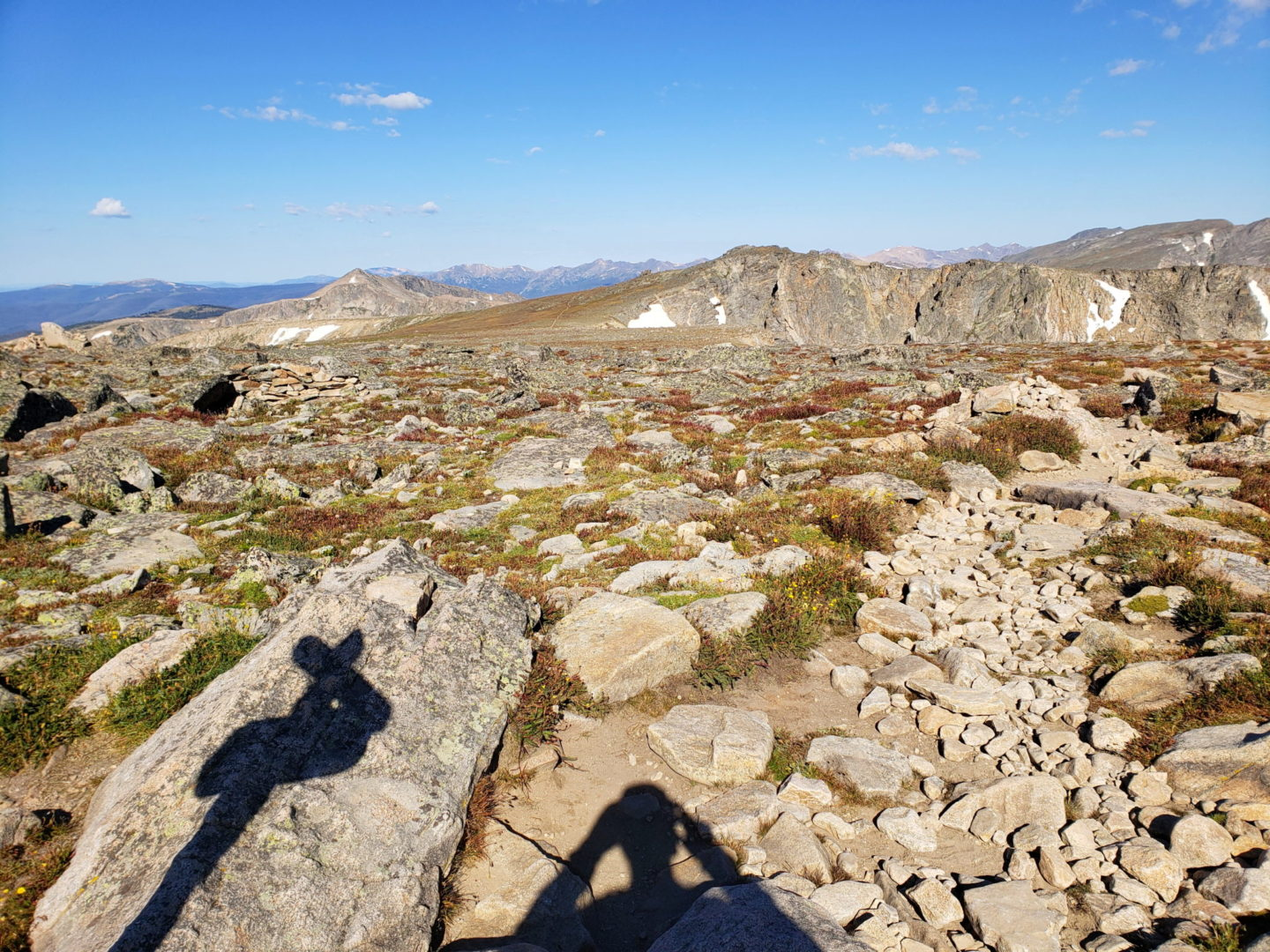 View from the summit of Flattop Mountain (12,324')