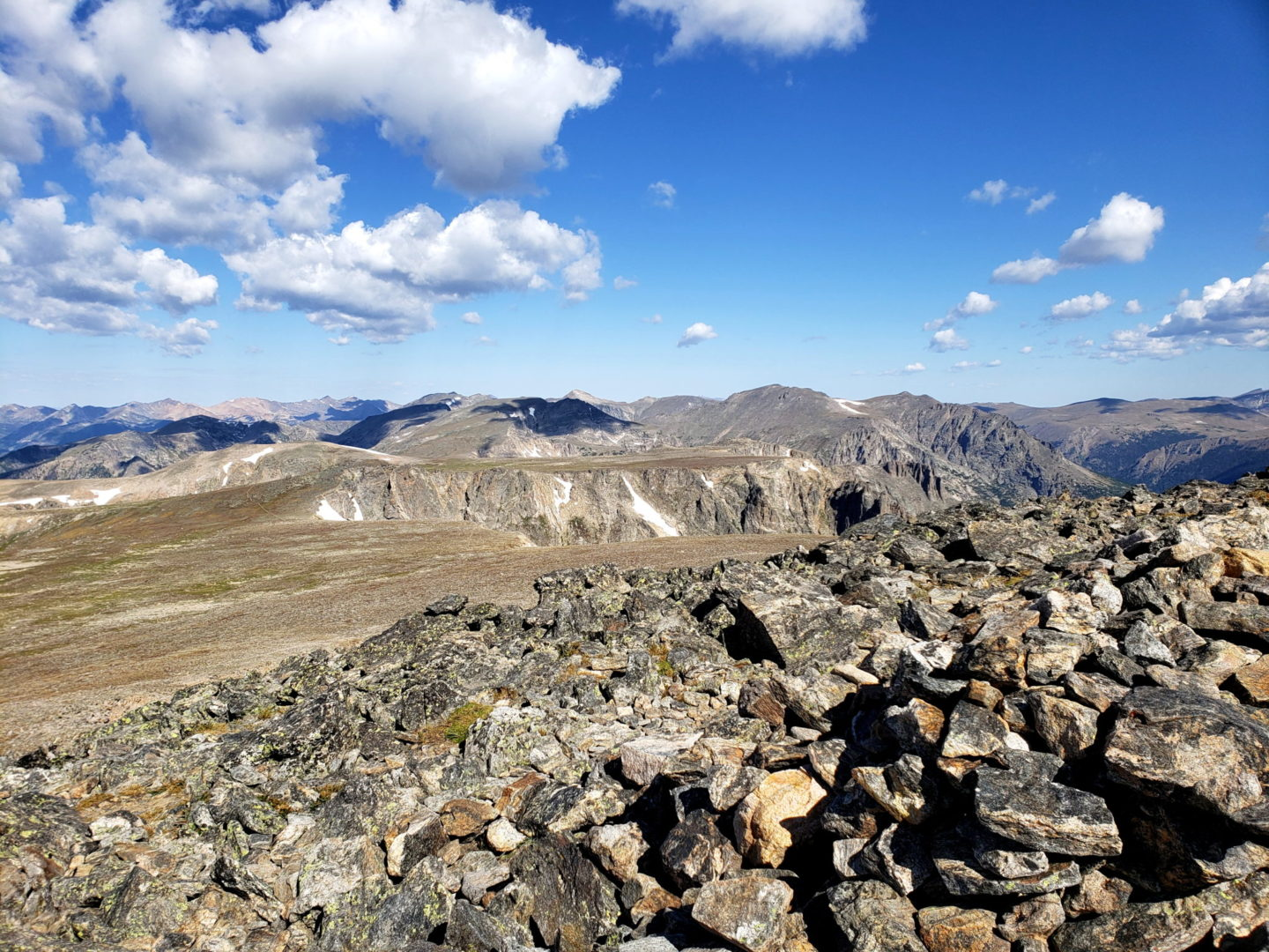 View of Flattop Mountain from the shoulder of Hallett Peak