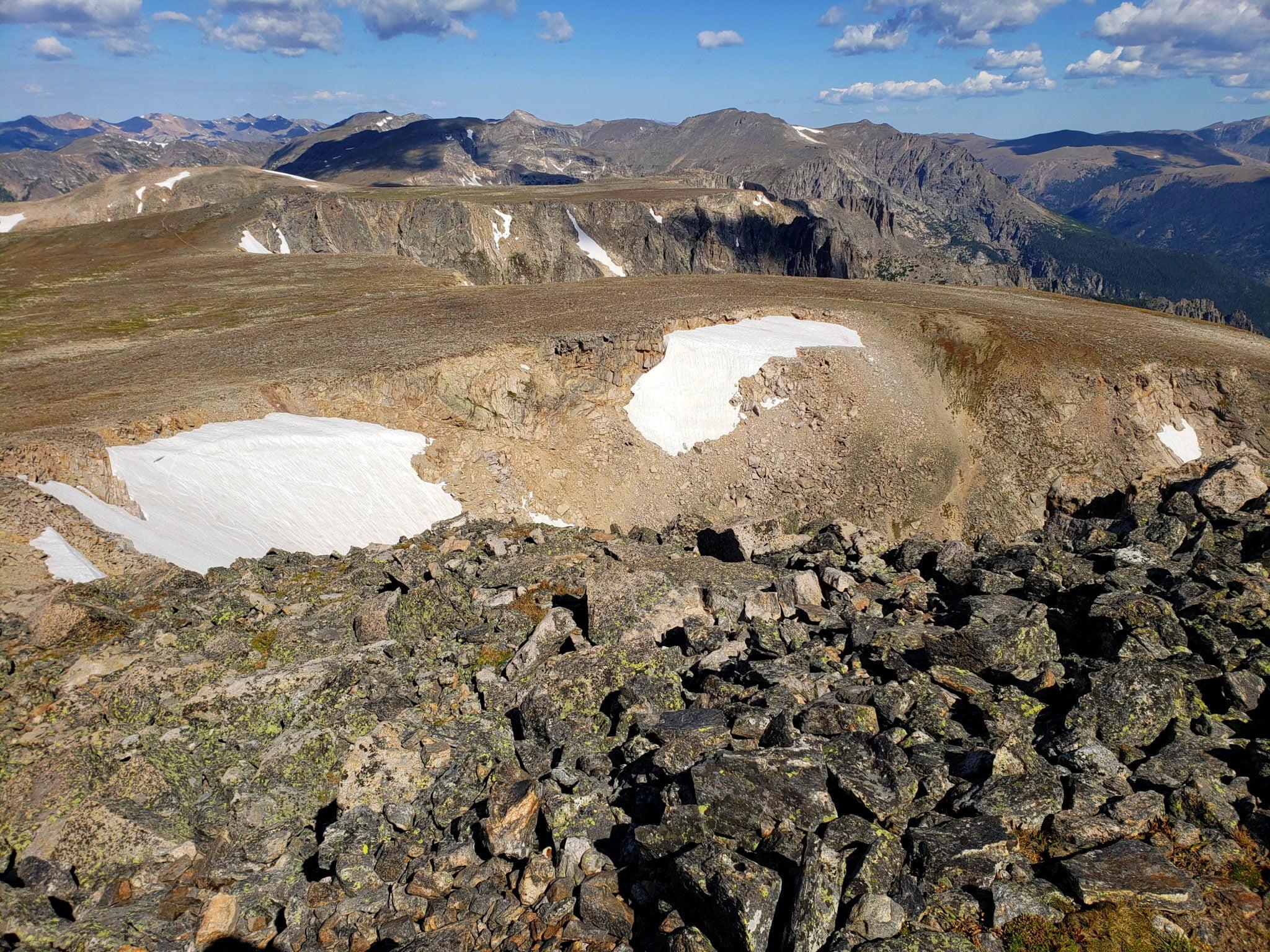Flattop Mountain from the summit of Hallett Peak