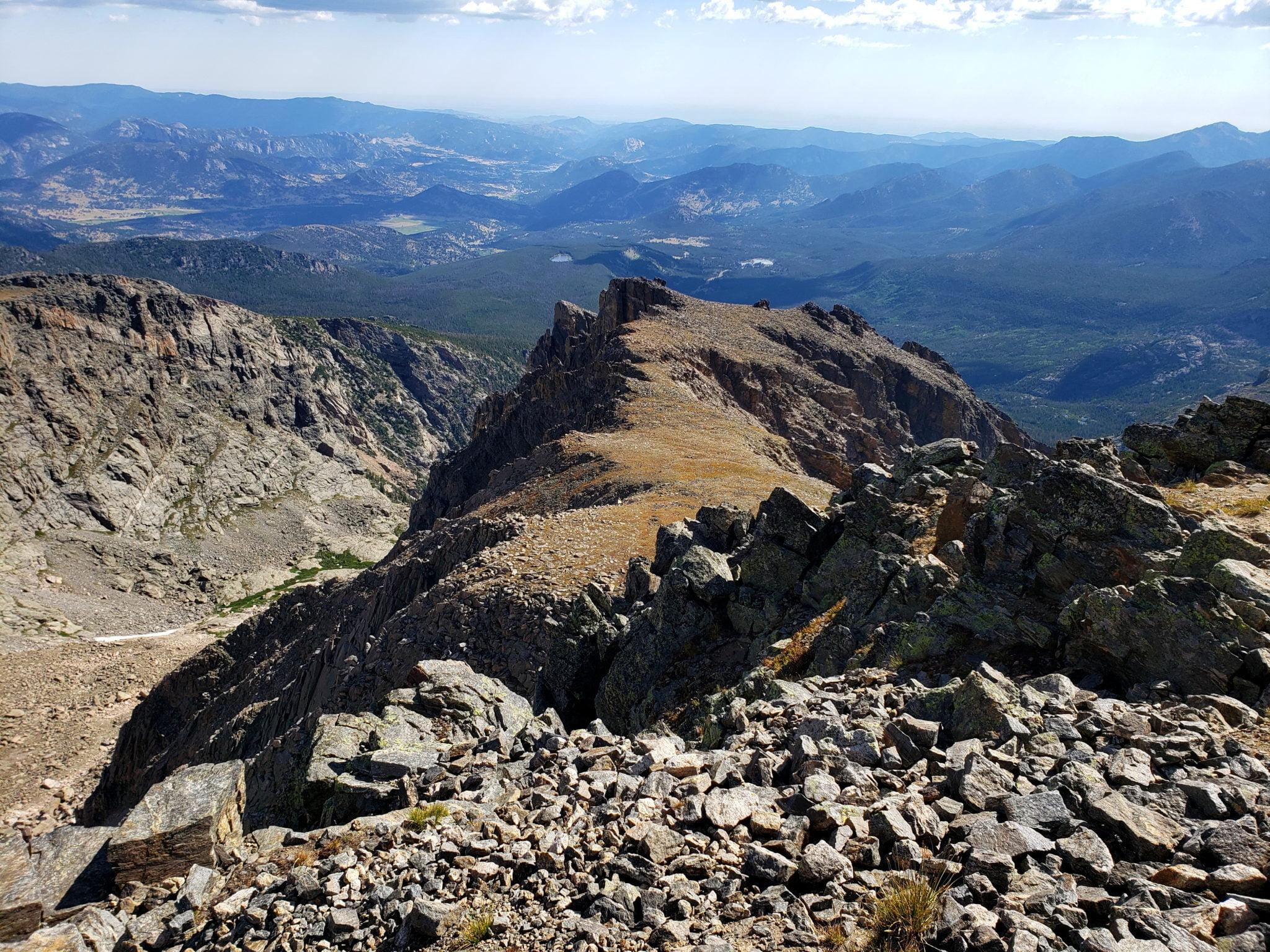 View of the Hallett Peak ridge from the summit