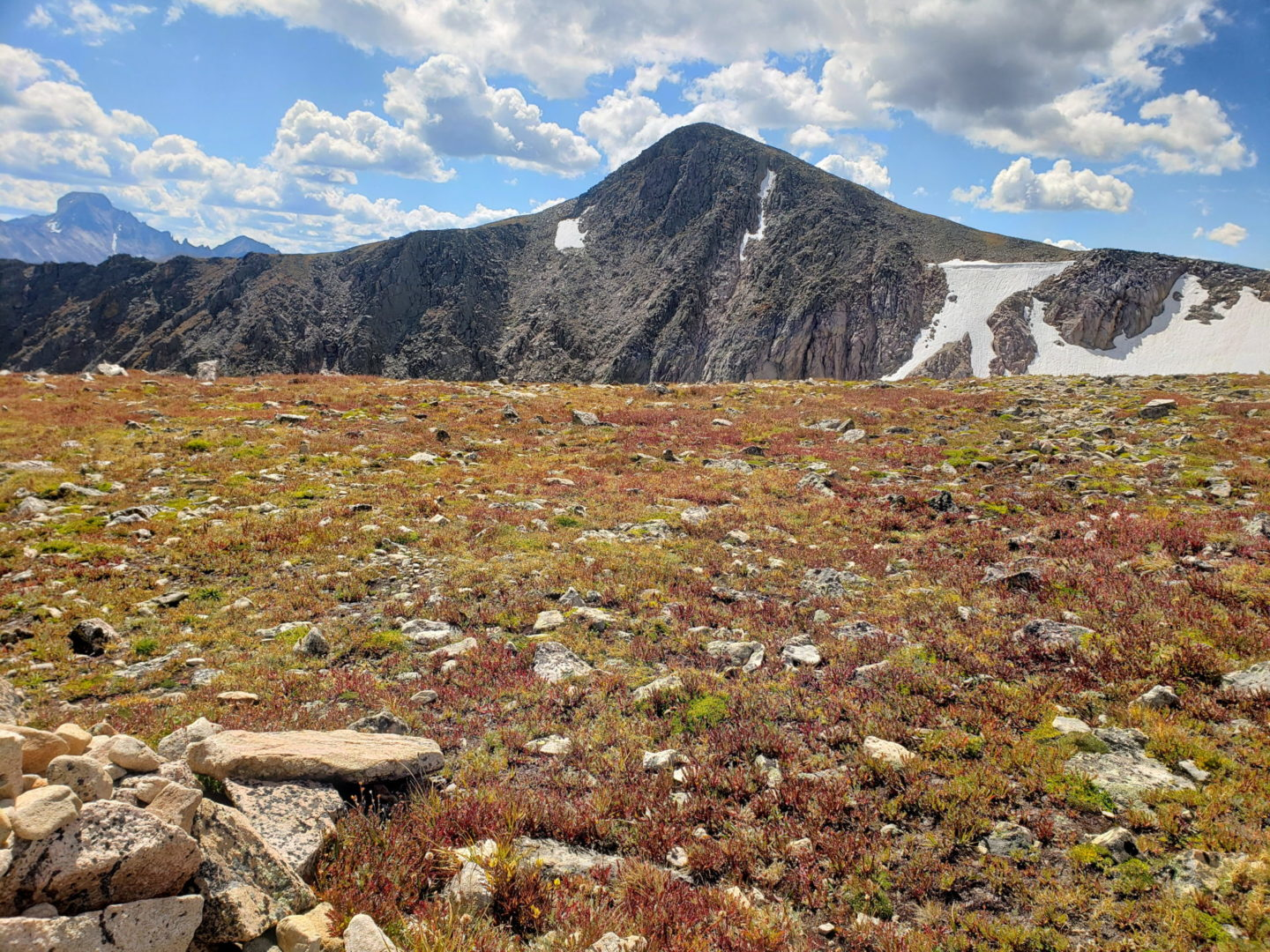 Hallett Peak from Flattop Mountain