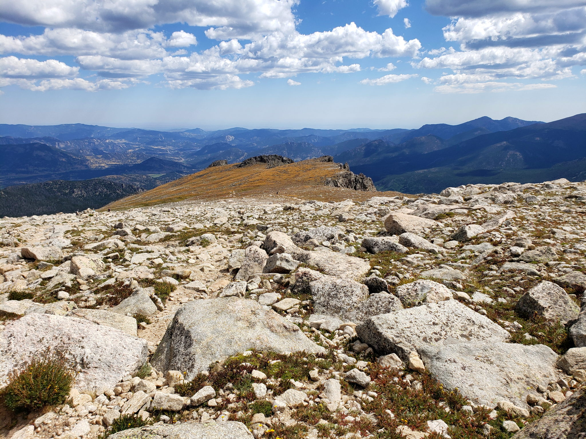 Looking east down the Flattop Mountain Trail