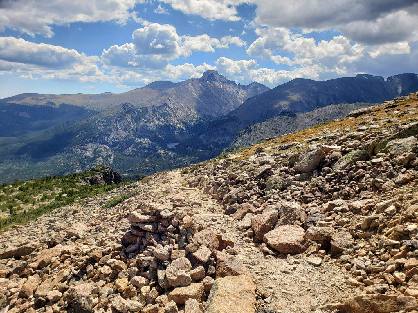 Views along the Flattop Mountain trail