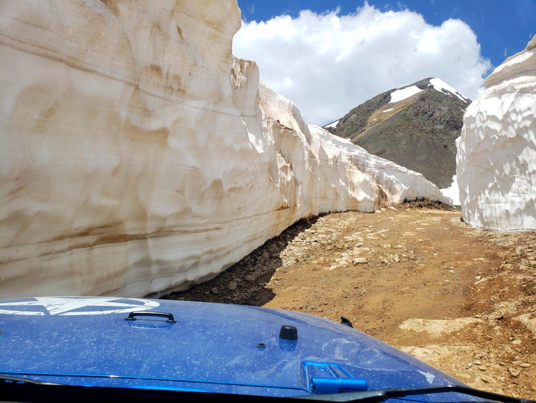 Hurricane Pass (12,730′) and California Pass (12,960′), San Juan Range