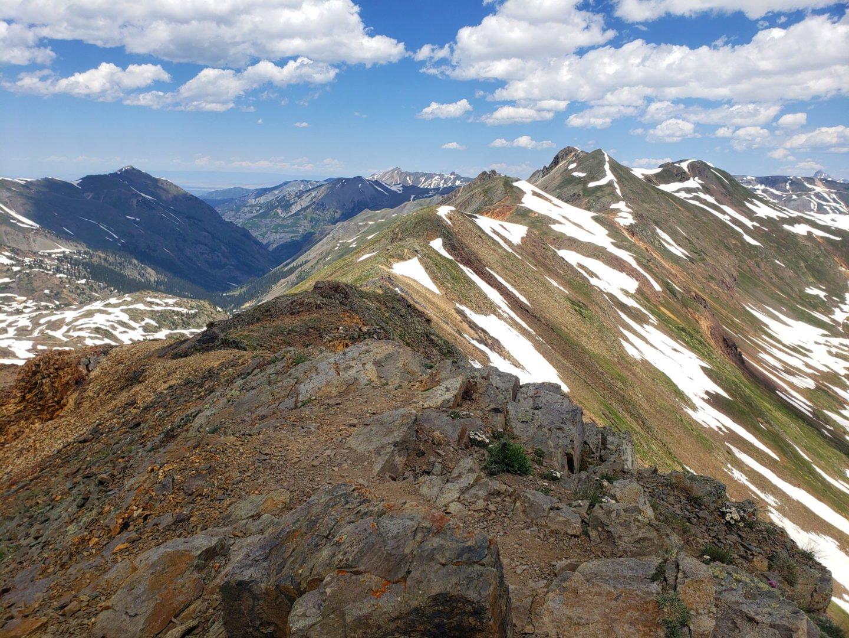 Tuttle Mountain ridgeline from California Pass