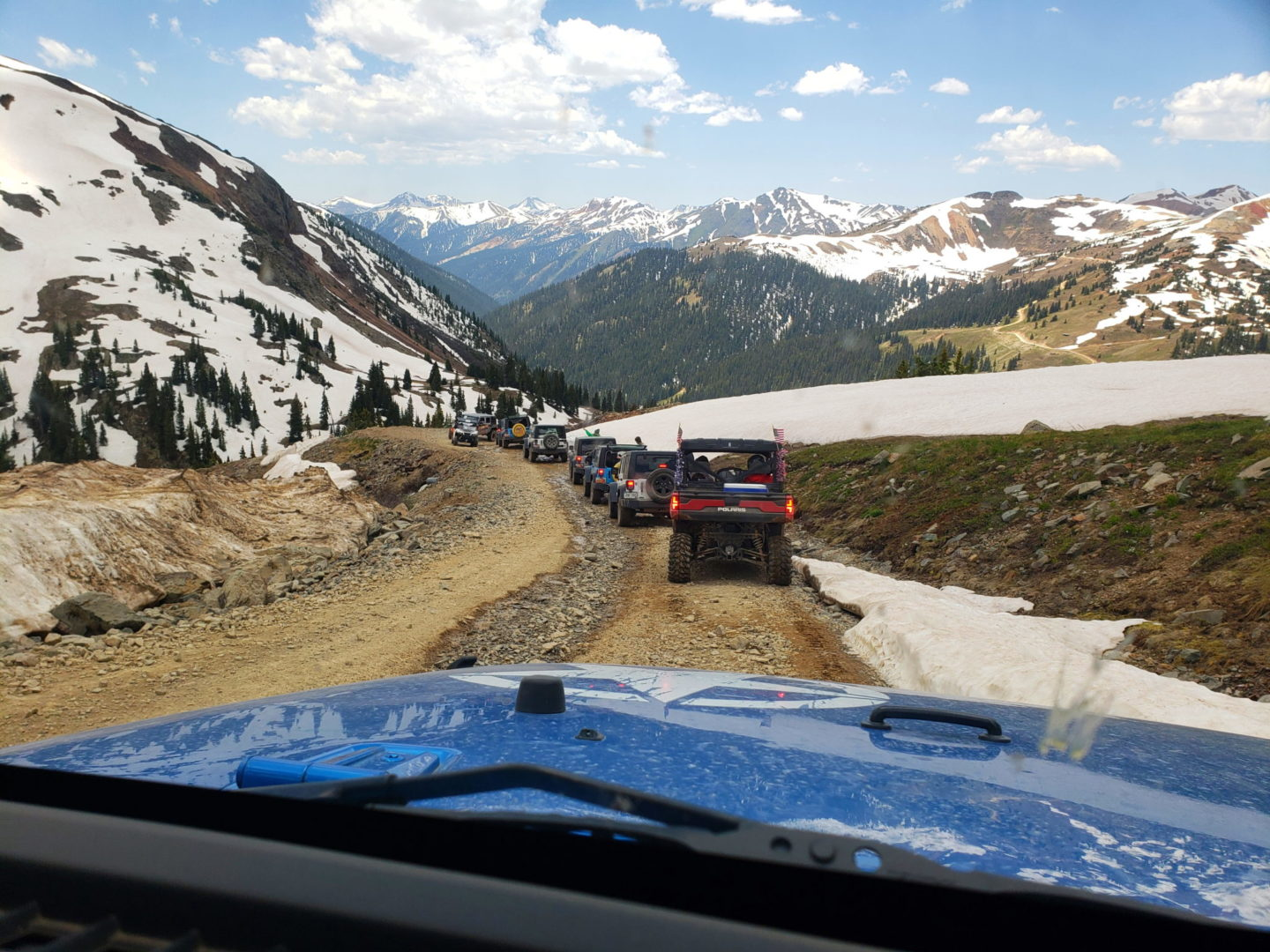 Traffic jam near Silverton