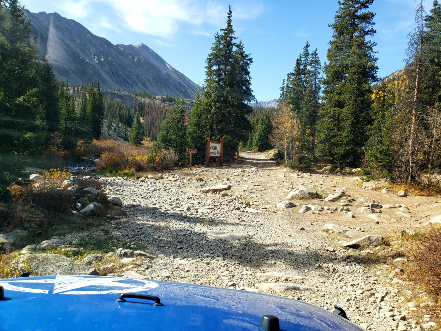 Baldwin Gulch Junction - take a left for Mt Antero
