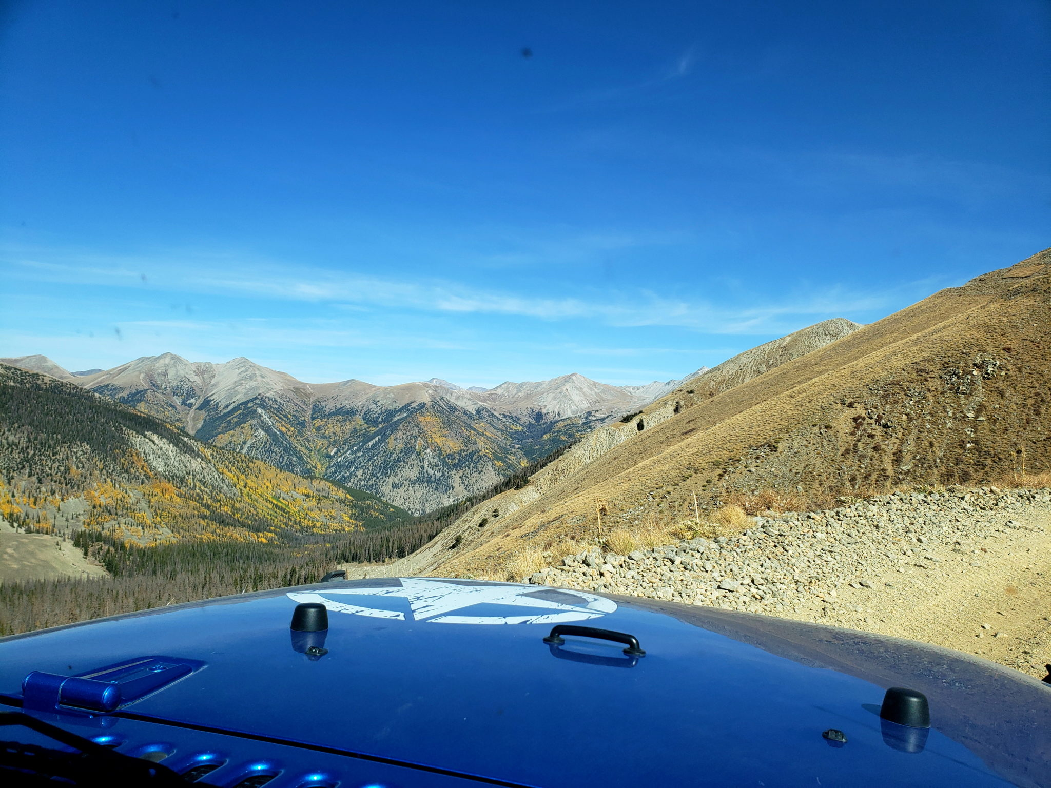 The road climbs quickly once above treeline