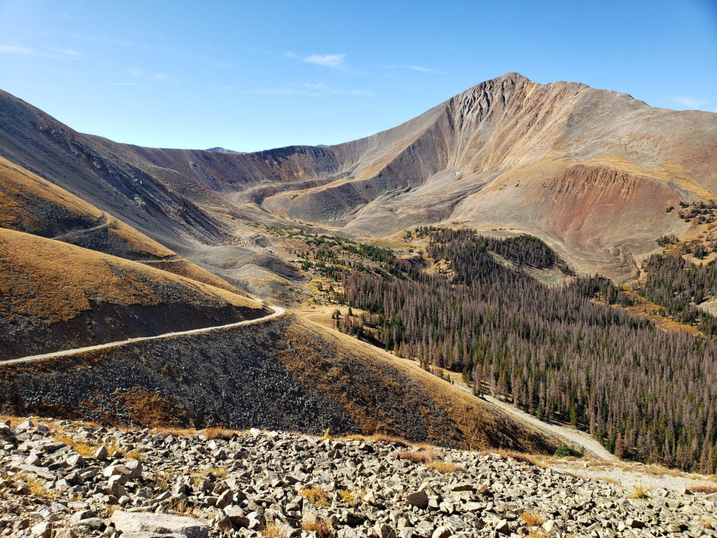 View of Cronin Peak (13,870') from the west side of Mt Antero