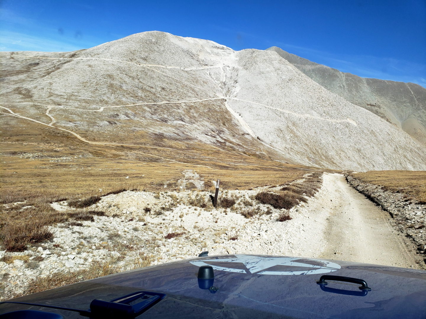 The route to PT 13,800' on Mt Antero