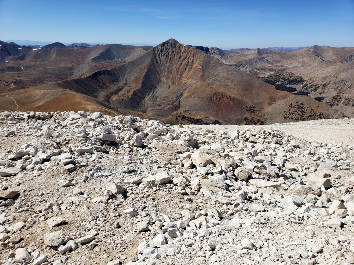 View of Cronin Peak from PT 13,800'