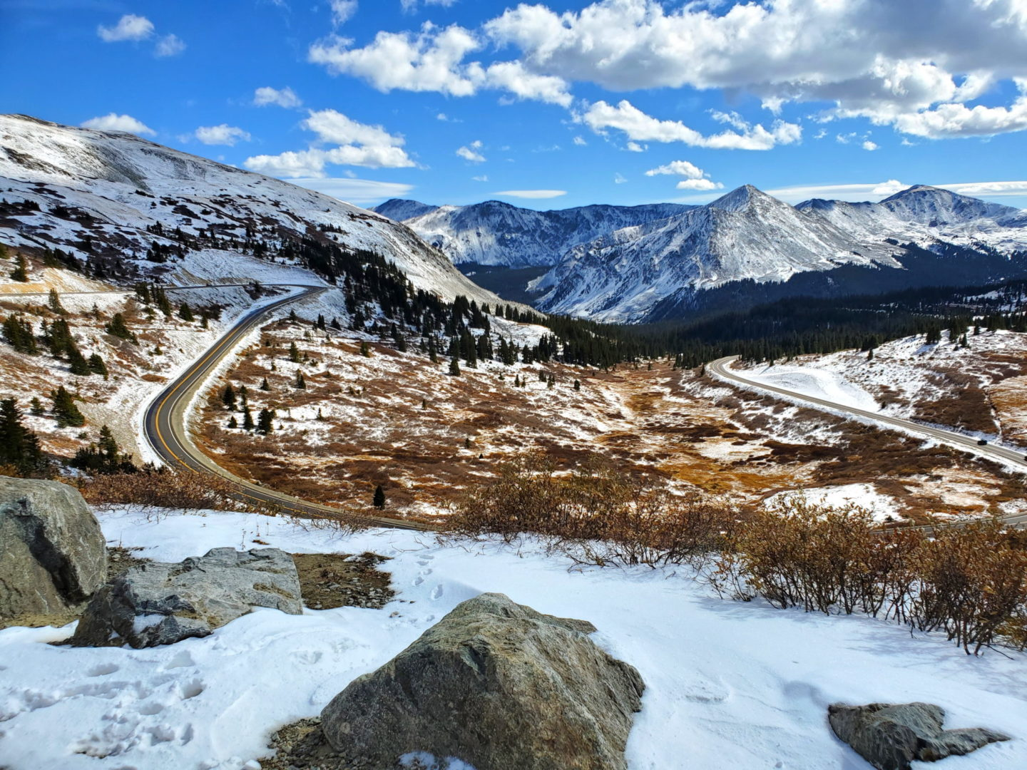 Paved Highway over Cottonwood Pass 12,126'