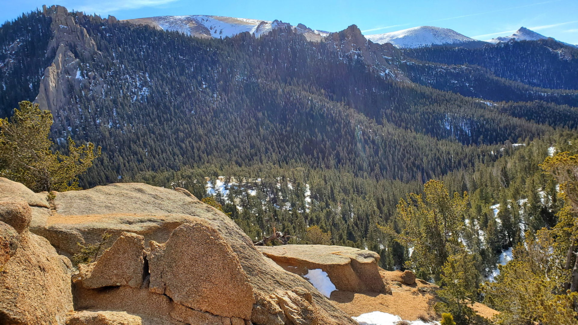 Pikes Peak area to the southeast