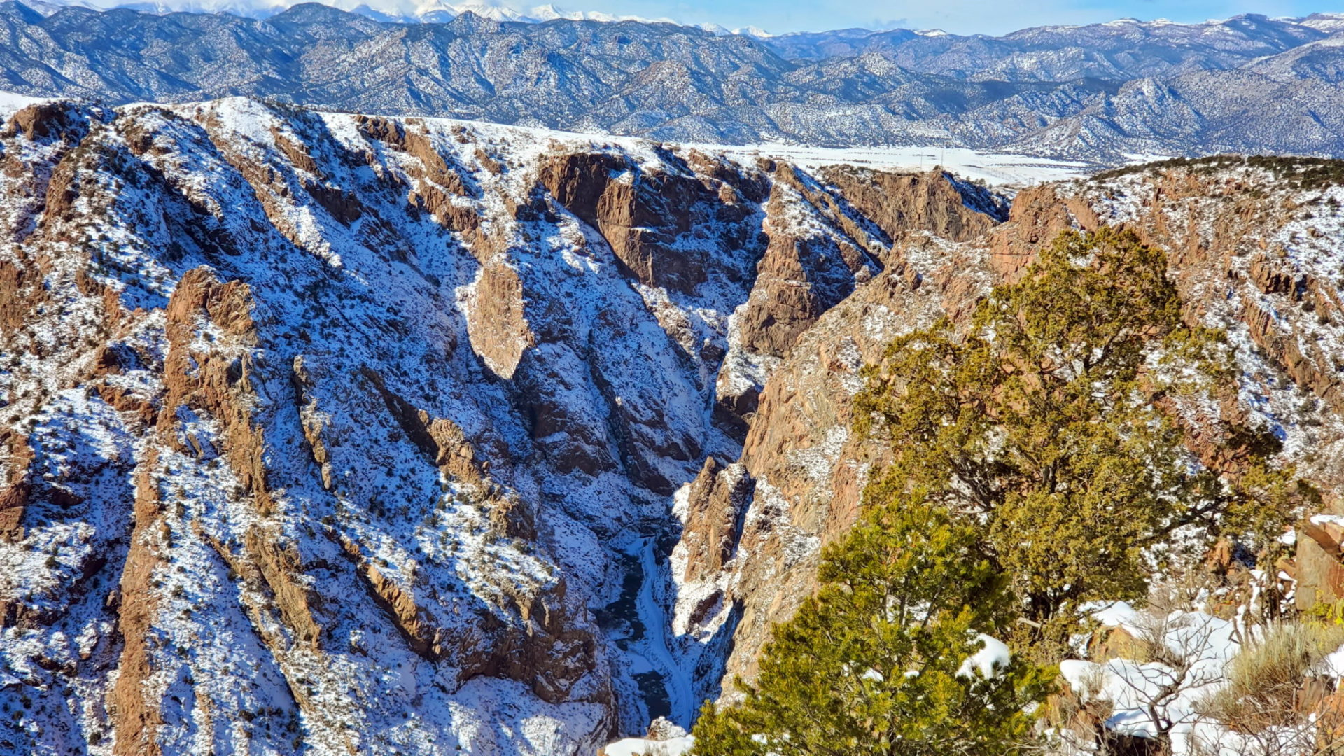 A view into the Royal Gorge from the trail