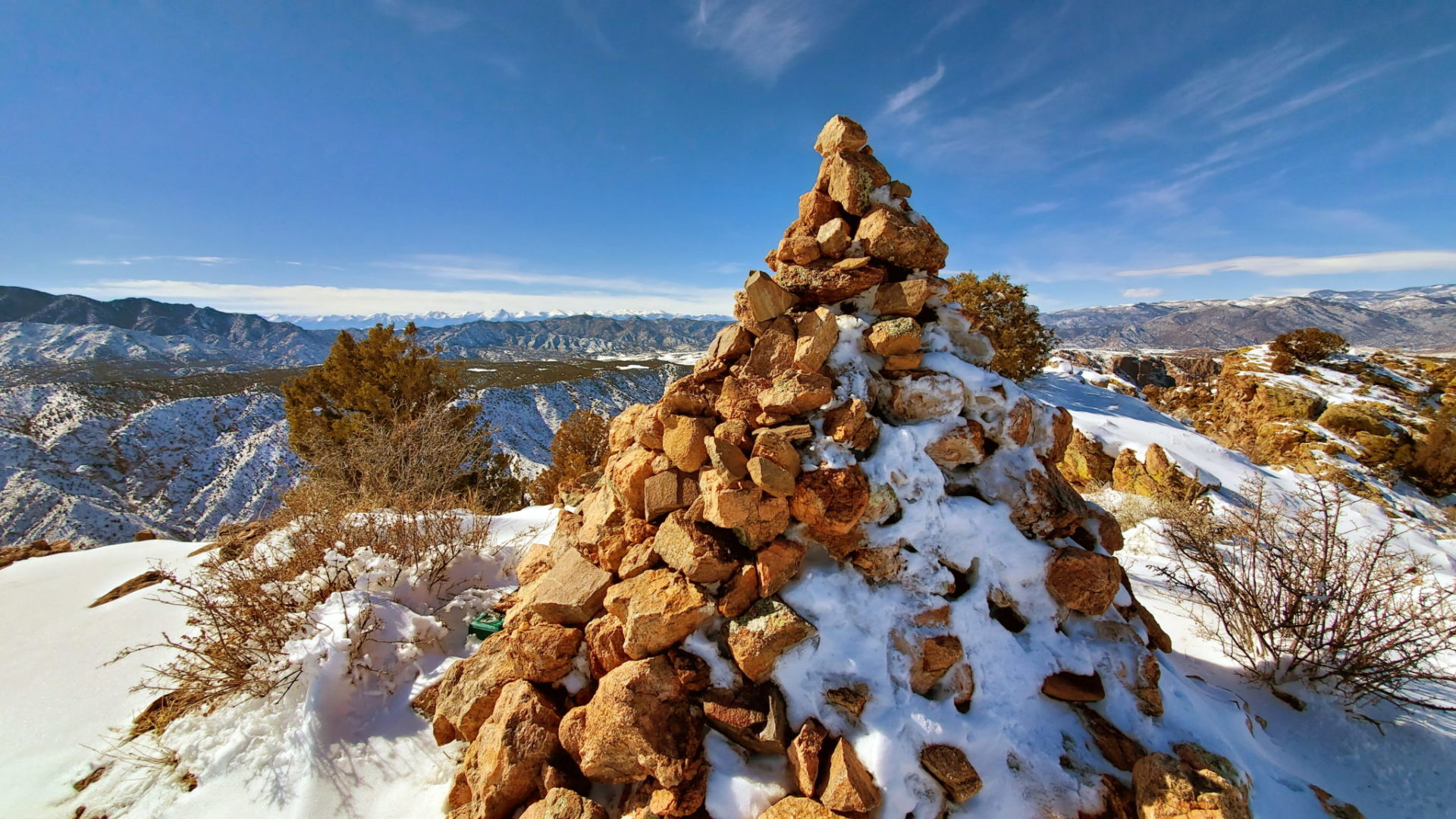 A large cairn at the summit