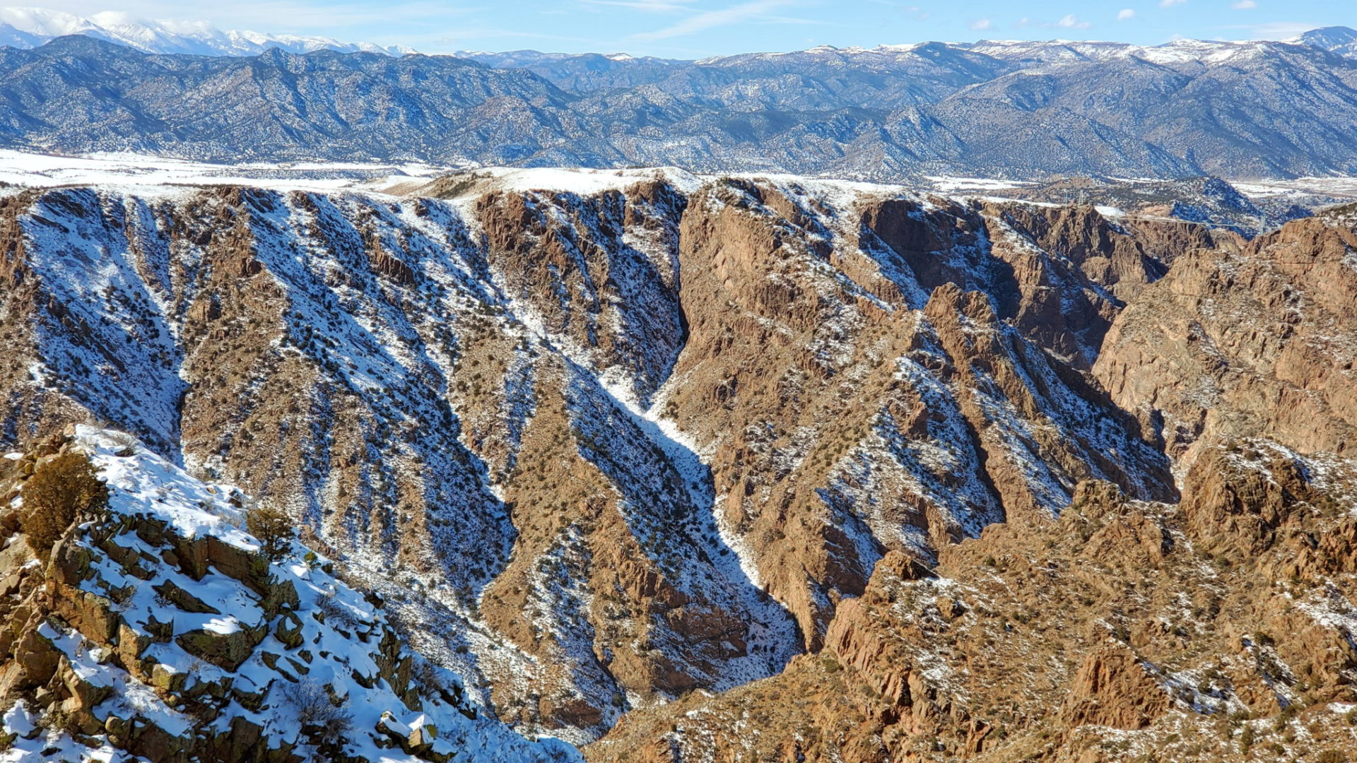 View of the Royal Gorge from the summit with the bridge on the right