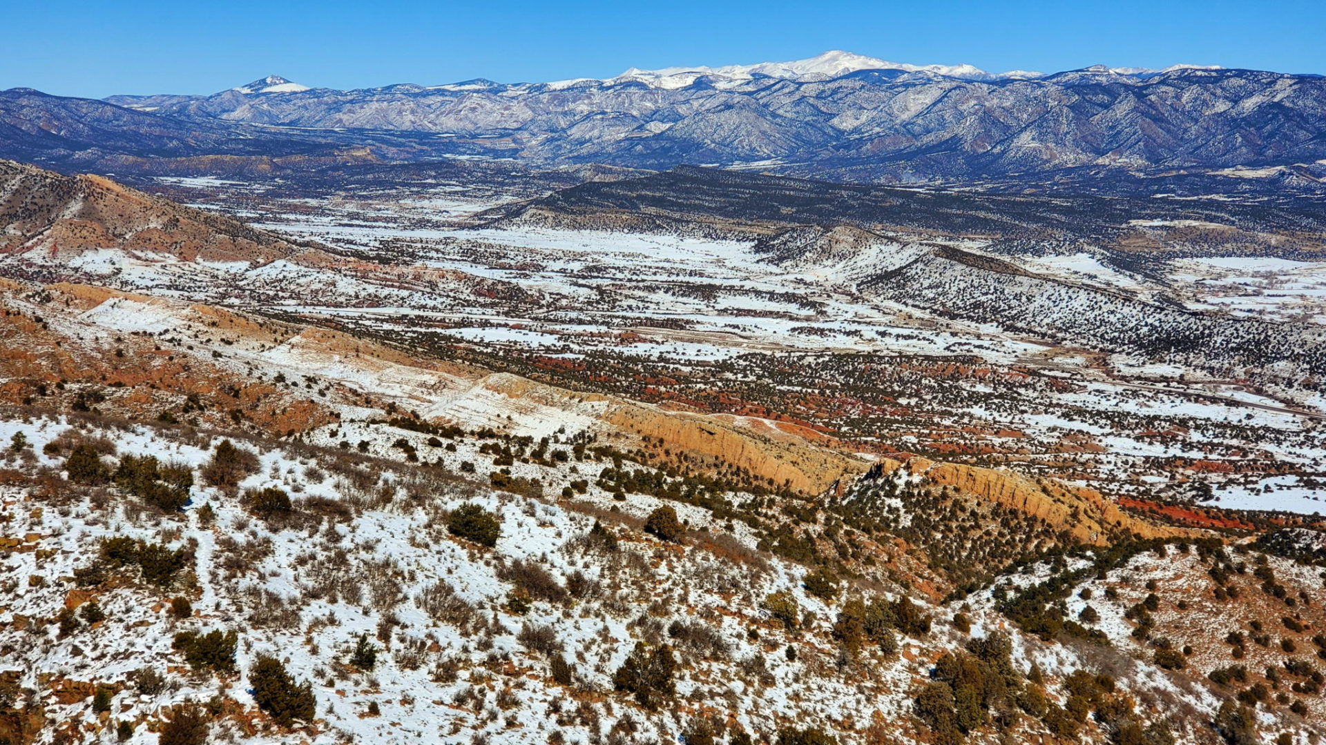 View of Pikes Peak to the north