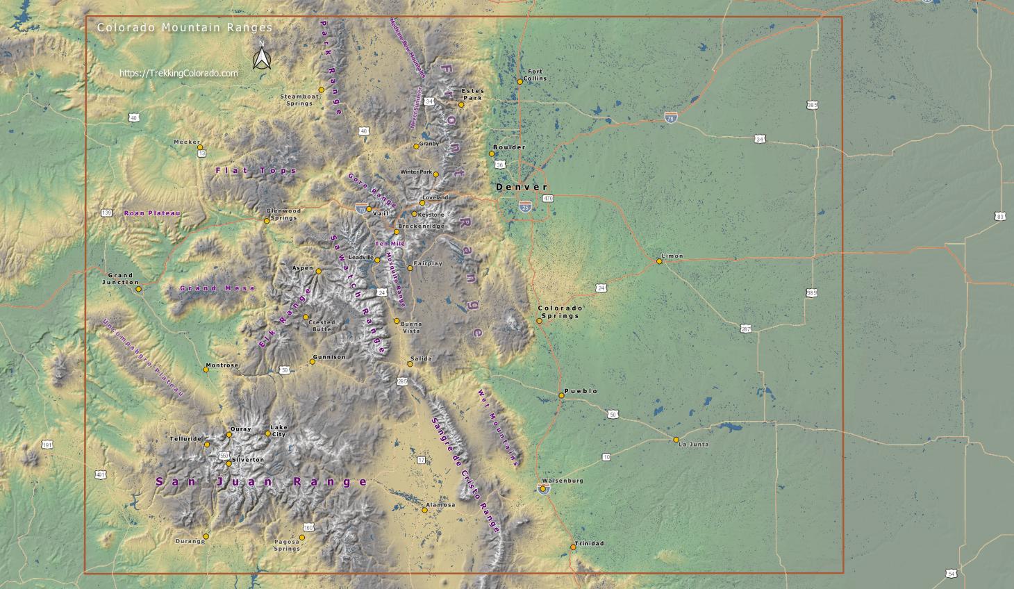 Image of: Colorado Mountain Ranges Trekking Colorado