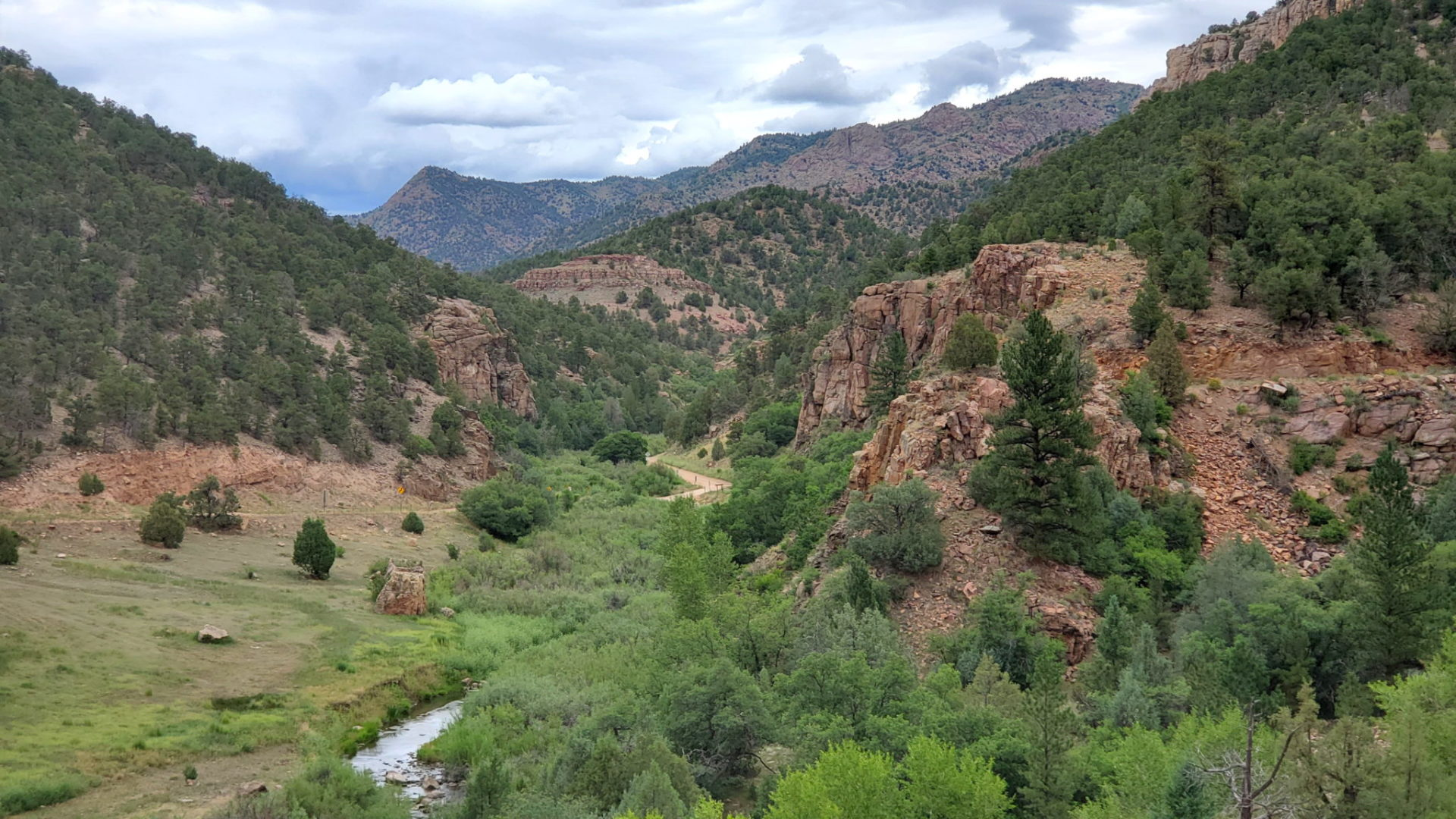 View north of Fourmile Creek