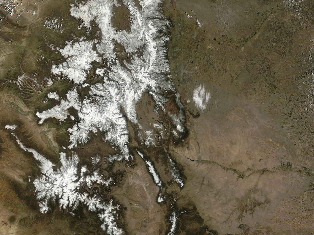 Colorado spring satellite view courtesy of the USGS