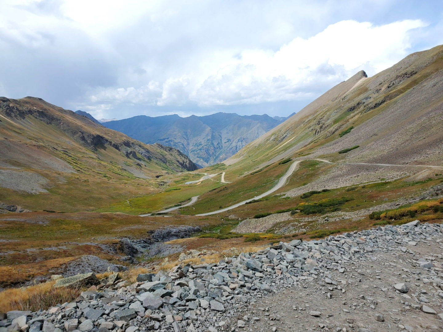 The road up the west side of Stony Pass