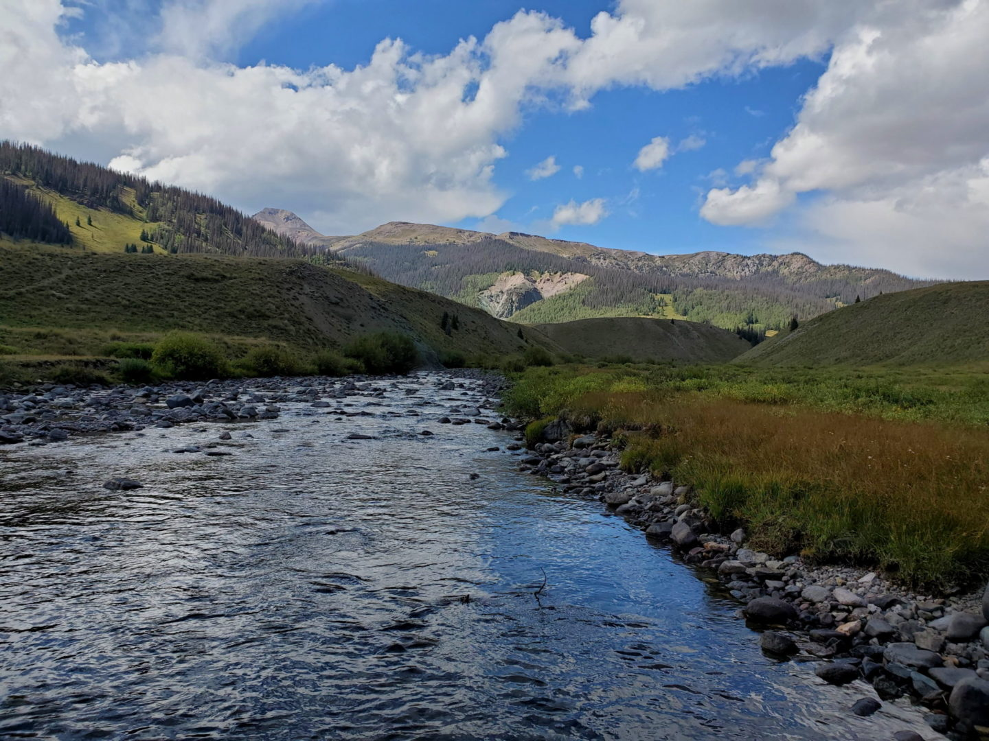 Crossing the Rio Grande River headwaters